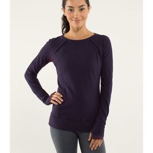 Lululemon full tilt rulu long sleeve shirt purple